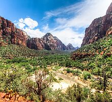 The Valley at Zion National Park by pixog