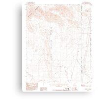 USGS TOPO Map Arizona AZ Red Hill NE 313052 1986 24000 Canvas Print