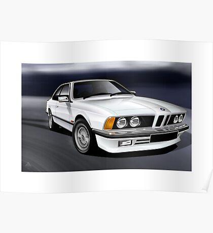 Poster artwork - E24 6 Series 635 CSI White Poster