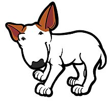 Ginger Ears Bull Terrier  Photographic Print
