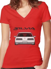 Classic / Oldschool S13 Mashup Women's Fitted V-Neck T-Shirt