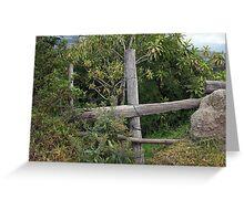 Wood Rail Fence Greeting Card