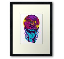 Self Portrait in a Sphere of Madness Framed Print