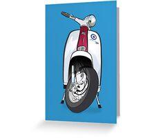 Mod Lambretta Greeting Card