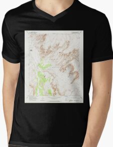 USGS TOPO Map Arizona AZ Dancing Rocks 311074 1968 24000 Mens V-Neck T-Shirt