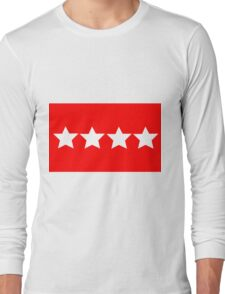 US Army General - Rank Flag Long Sleeve T-Shirt