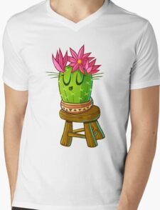 Cute cacti on stool 2 Mens V-Neck T-Shirt