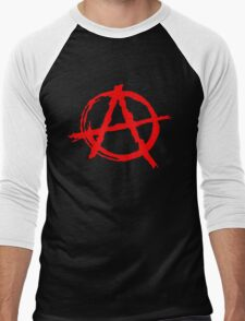Anarchy Symbol Men's Baseball ¾ T-Shirt
