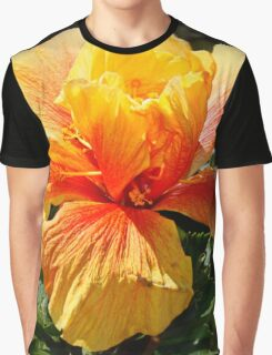 Red & Gold Hibiscus Graphic T-Shirt