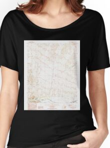 USGS TOPO Map Arizona AZ Castaneda Hills SW 310760 1990 24000 Women's Relaxed Fit T-Shirt