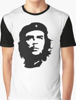 CHE, Che Guevara, Revolution, Marxist, Revolutionary, Cuba, Power to the people! Black on White Graphic T-Shirt