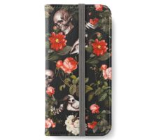 Skull and Floral Pattern iPhone Wallet/Case/Skin