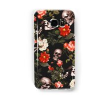 Skull and Floral Pattern Samsung Galaxy Case/Skin