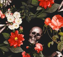 Skull and Floral Pattern Sticker