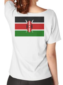 KENYA, Flag of Kenya, Swahili, Bendera ya Kenya, African Flags, Africa Women's Relaxed Fit T-Shirt