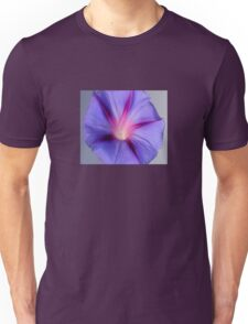 Close Up of A Morning Glory Purple and Pink Flower Unisex T-Shirt