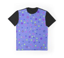 Blue Dotty Dots Graphic T-Shirt