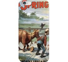 Performing Arts Posters Seldens funny farce A spring chicken 0811 iPhone Case/Skin