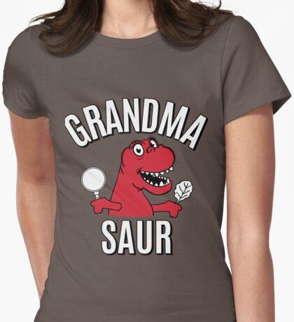 GRANDMA SAUR SMILE DINOSAUR Womens Fitted T-Shirt