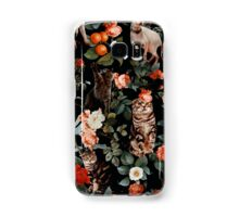 Floral and Cats Pattern Samsung Galaxy Case/Skin