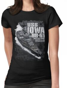 Battleship Iowa Womens Fitted T-Shirt