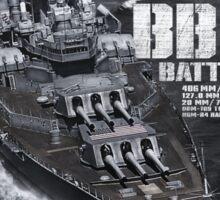 Battleship Iowa Sticker