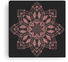 Vintage Tile Snowflake Mandala Design Canvas Print