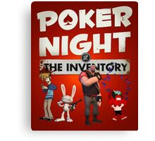 Poker Night at the Inventory Canvas Print
