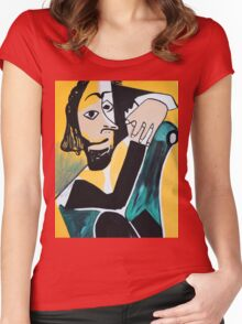 NEW  PICASSO PAINTING BY NORA  HANDS Women's Fitted Scoop T-Shirt