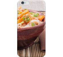 Small portion of rice vermicelli hu-teu with vegetables iPhone Case/Skin