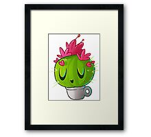 cute cactus Framed Print
