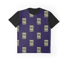 Pixel First, Pencil Later PATTERN Graphic T-Shirt