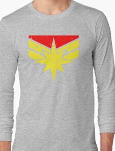 Distressed Super Heroine Long Sleeve T-Shirt