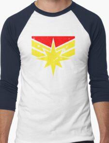Distressed Super Heroine Men's Baseball ¾ T-Shirt