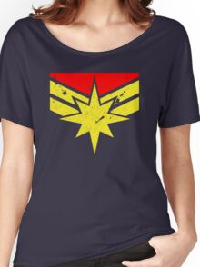 Distressed Super Heroine Women's Relaxed Fit T-Shirt