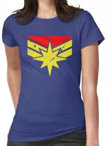 Distressed Super Heroine Womens Fitted T-Shirt