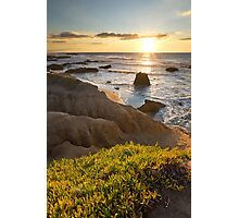 Pescadero State Beach at Sunset Photographic Print