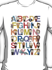 Through the Wormhole Alphabet T-Shirt
