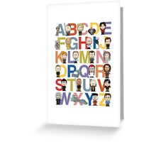 Through the Wormhole Alphabet Greeting Card