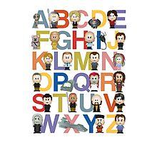 Through the Wormhole Alphabet Photographic Print