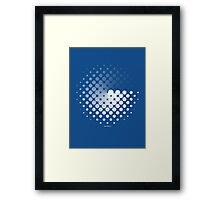 Dots can be in a disc Framed Print