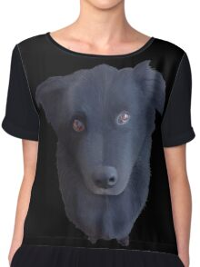 Portrait of my Dog (Original) Chiffon Top