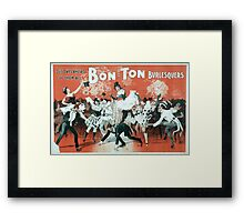 Performing Arts Posters Bon Ton Burlesquers 365 days ahead of them all 0280 Framed Print