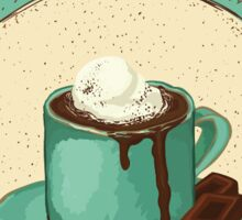 Hot chocolate with ice cream Sticker