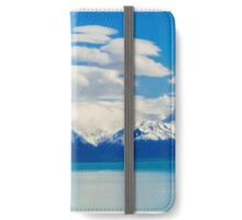 White Blue Glass iPhone Wallet/Case/Skin
