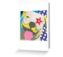 All-American Pit Bull Greeting Card