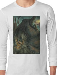 Hungarian horntail - No text version Long Sleeve T-Shirt