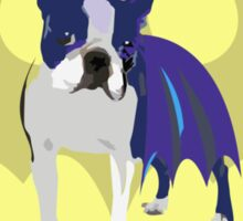 Batdog - Boston Terrier Sticker