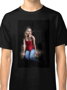 Sexy Blond Sitting Classic T-Shirt