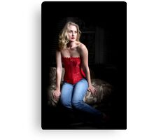 Sexy Blond Sitting Canvas Print